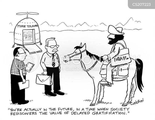 delayed gratification cartoon