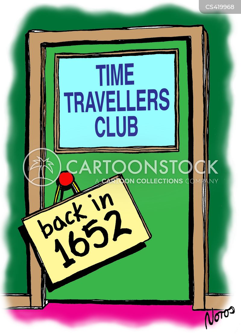 time traveling cartoon