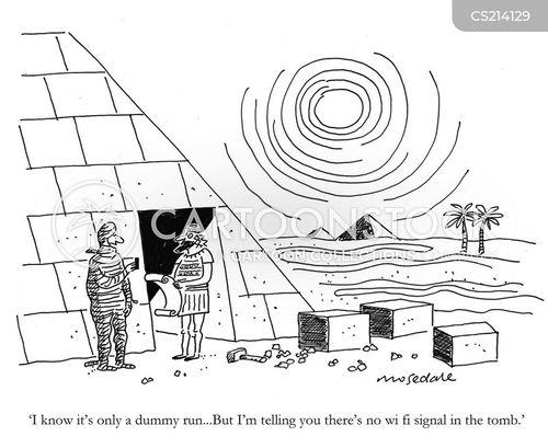 wireless signals cartoon