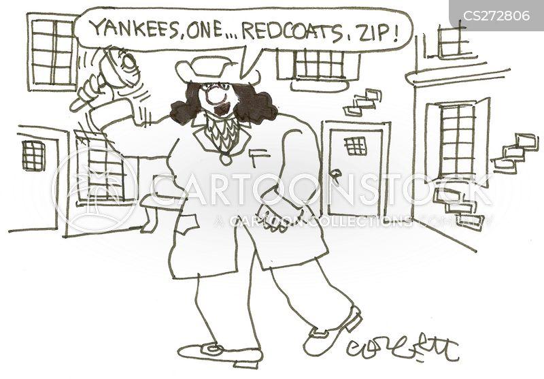 redcoats cartoon