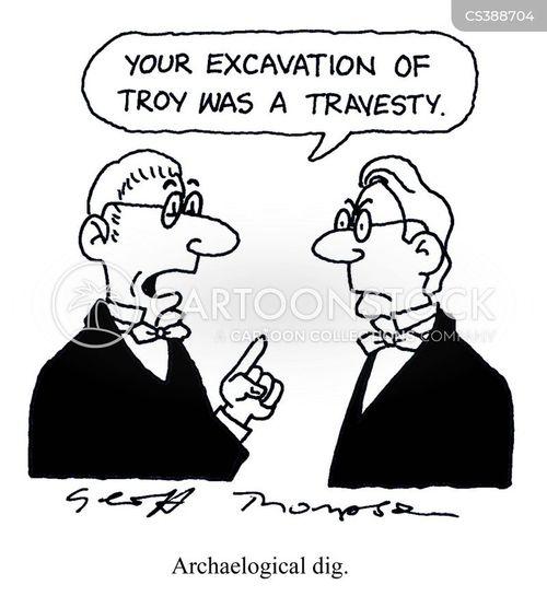 excavate cartoon
