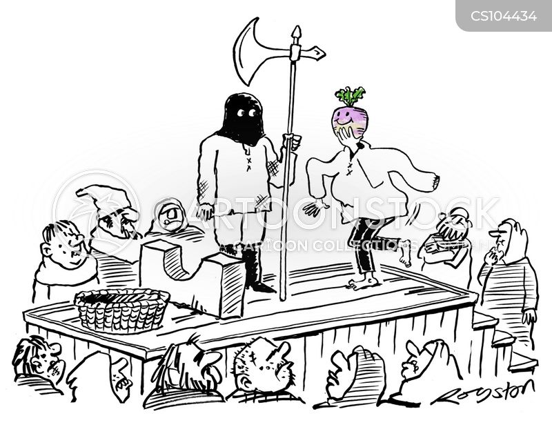 public executions cartoon