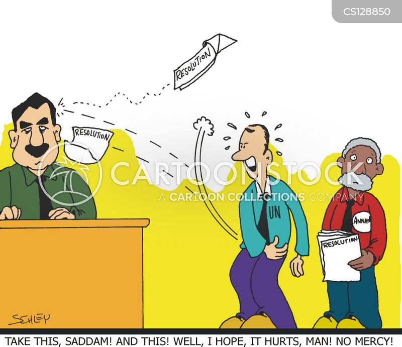 saddam hussein cartoon