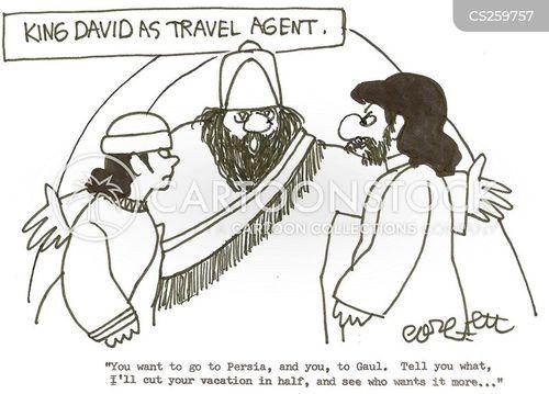 king david cartoon