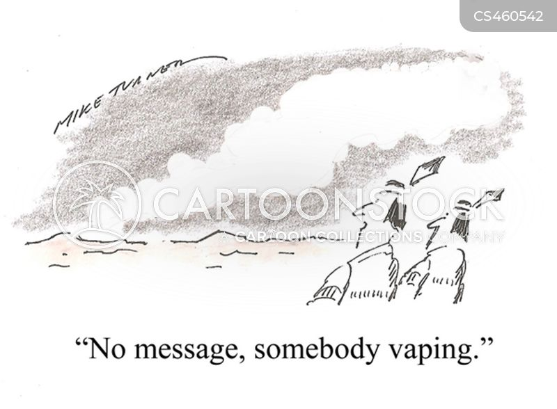 vaping cartoon