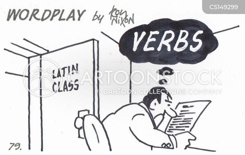 latin classes cartoon