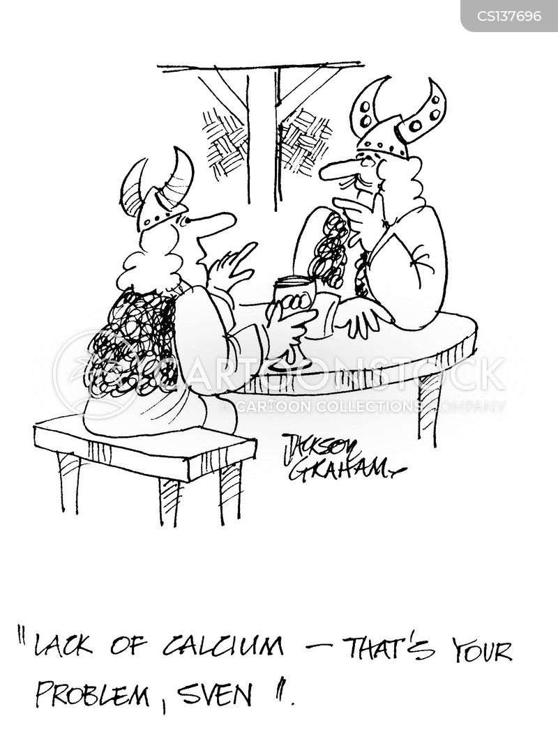 calcium deficiency cartoon