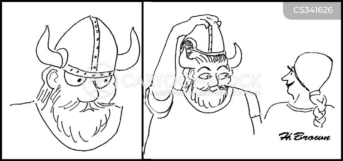 horned helmets cartoon