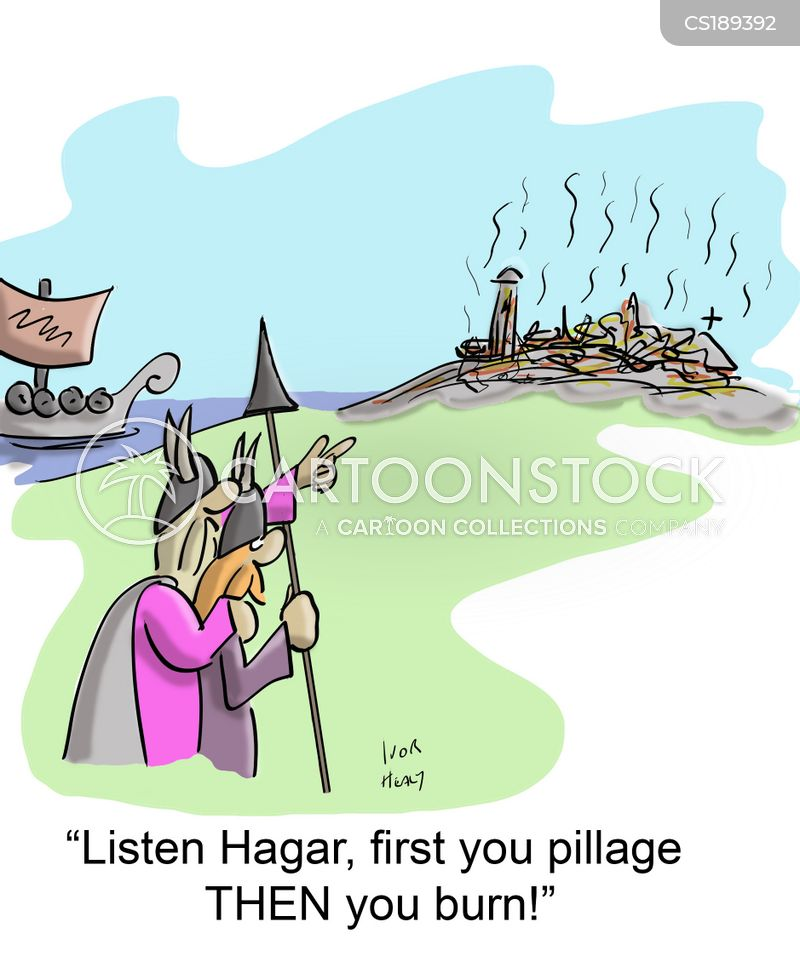 viking raider cartoon