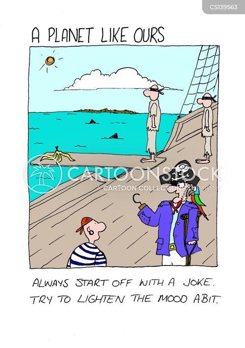 walked the plank cartoon