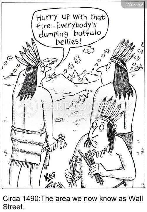 pre-columbian cartoon