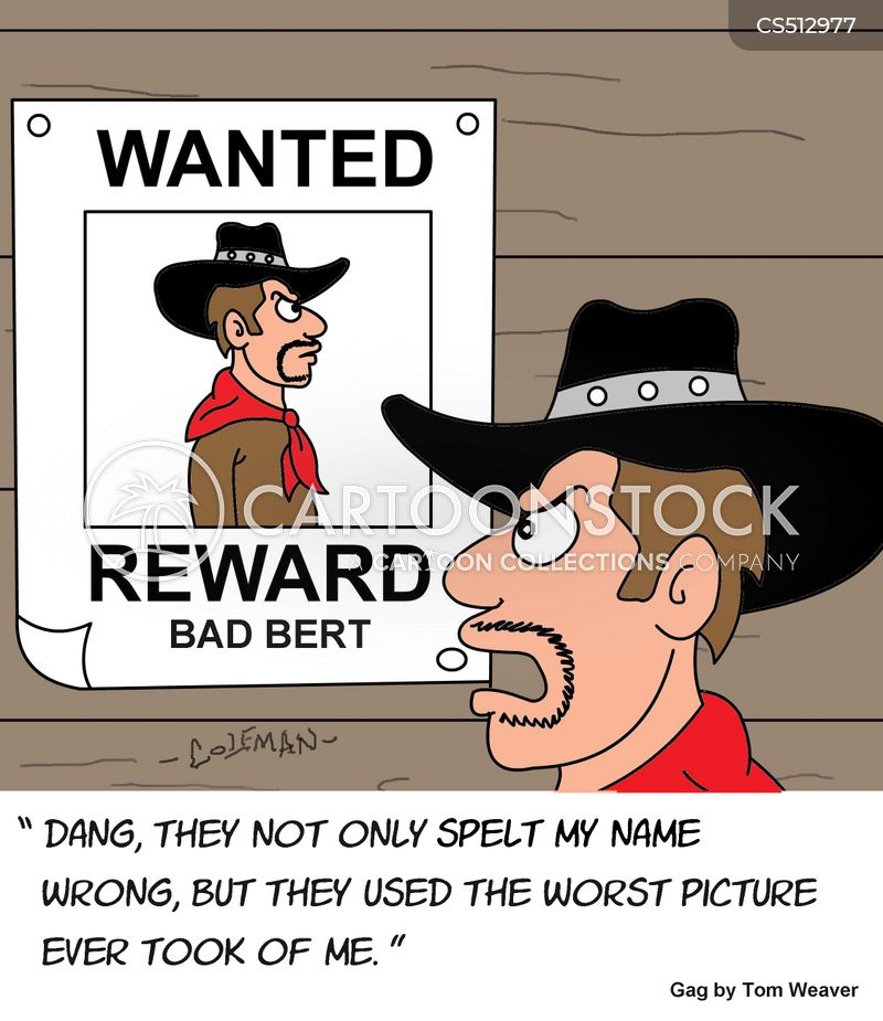 wanted man cartoon