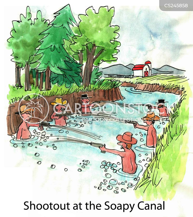 water pistols cartoon
