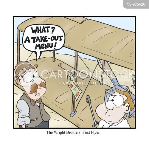 orville wright cartoon