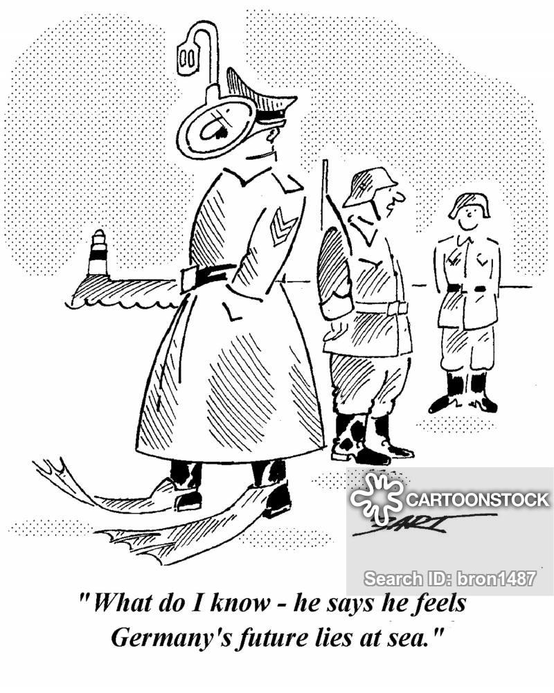 Cartoons und Karikaturen mit Hitler