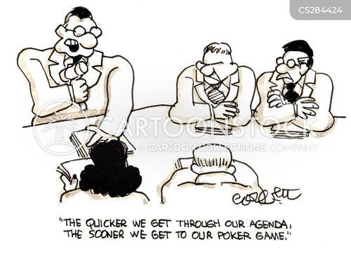 playing poker cartoon