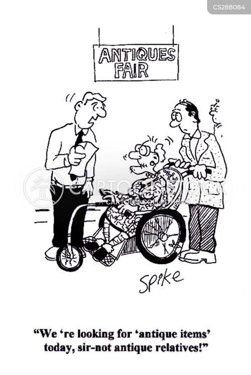 antiques fair cartoon