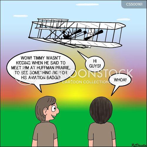 wright flyer cartoon
