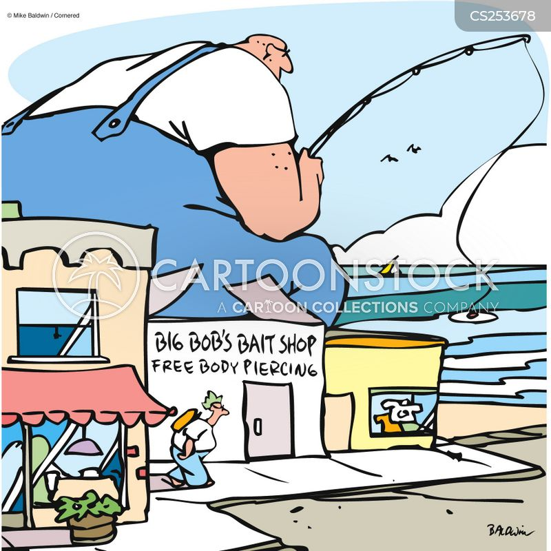 bait shop cartoon