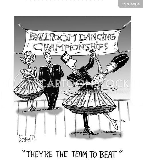 dance competition cartoon