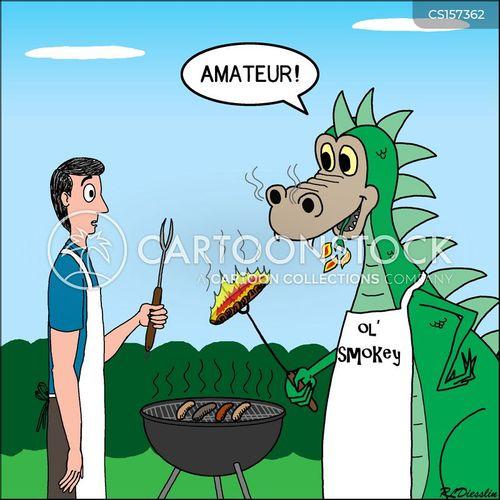 barbecuing cartoon