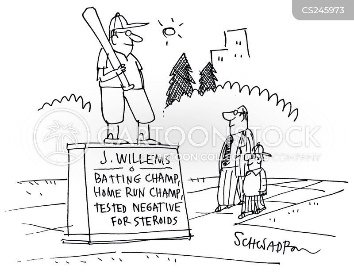 professional baseball players cartoon