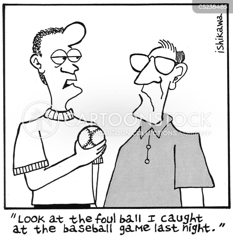 baseball diamond cartoon