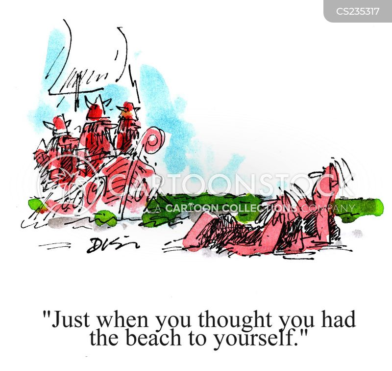 deserted beach cartoon