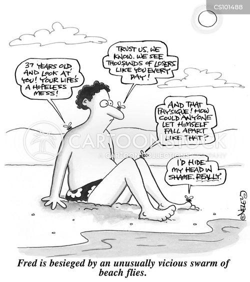 sand flies cartoon