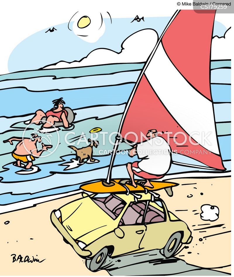 wind-powered cars cartoon