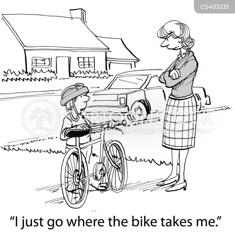 bicyclist cartoon
