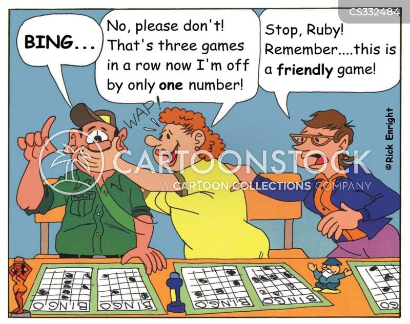 playing bingo cartoon