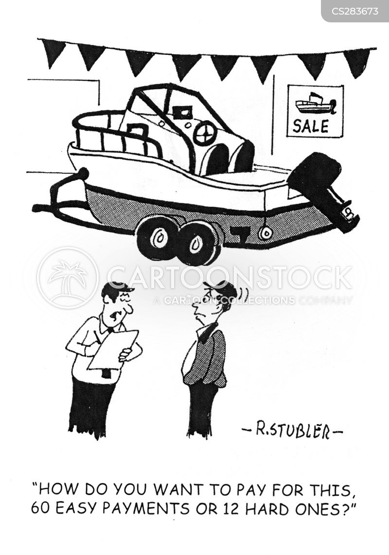down payments cartoon