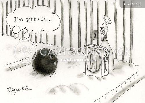 tenpin bowlers cartoon