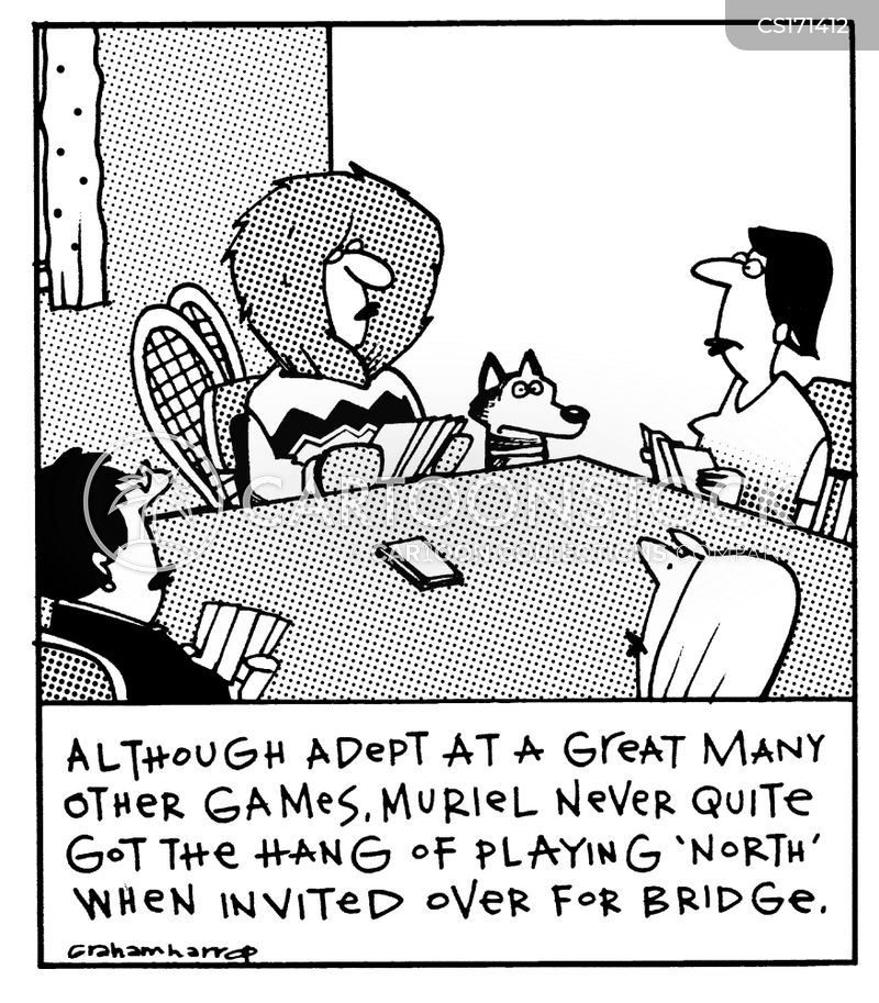 card game cartoon