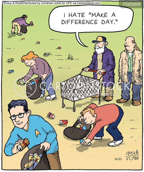 litter picking cartoon