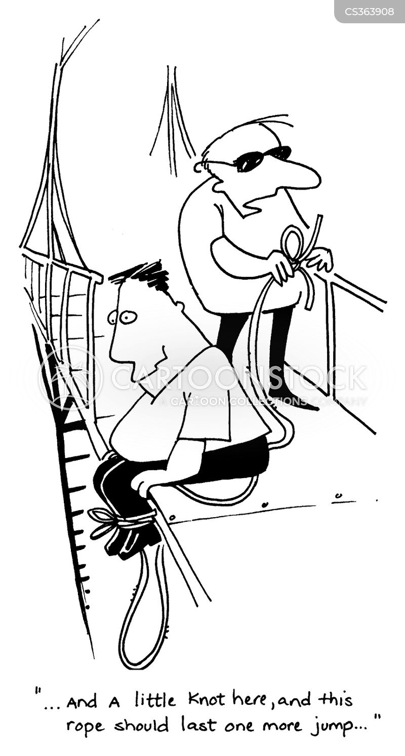 bungey jumping cartoon