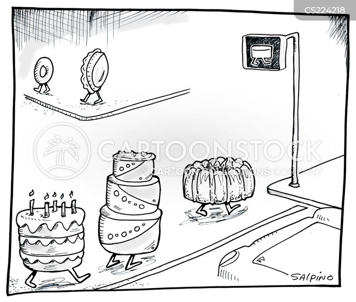 baked good cartoon