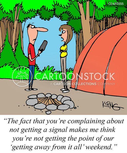 camping sites cartoon