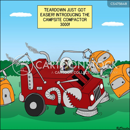 tear down cartoon
