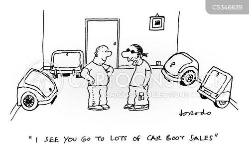 car boot sale cartoon