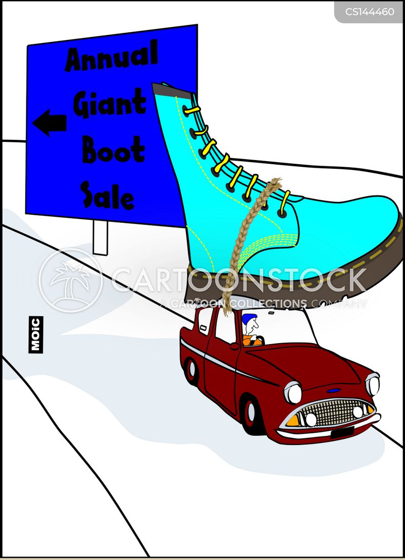 car boots cartoon