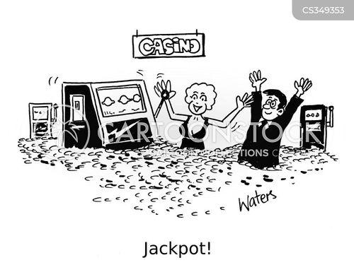 one-armed bandit cartoon
