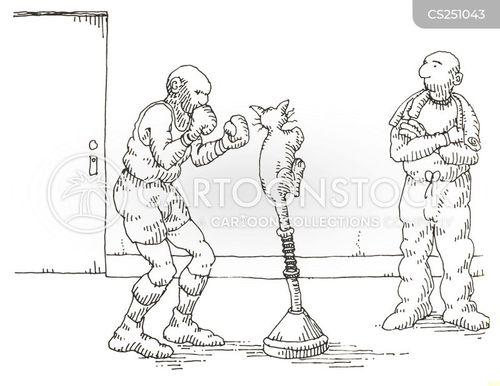 punching bag cartoon