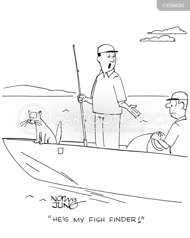 fish finder cartoon