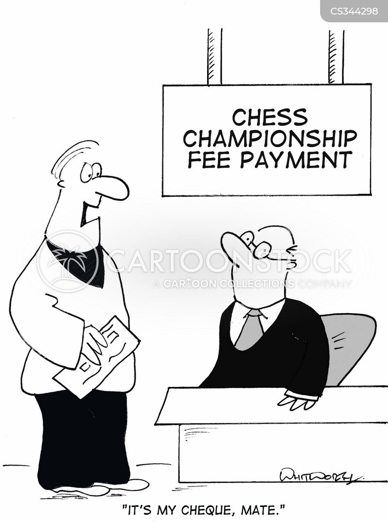 check mate cartoon