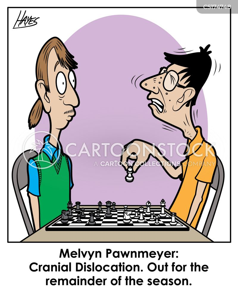 chess competition cartoon