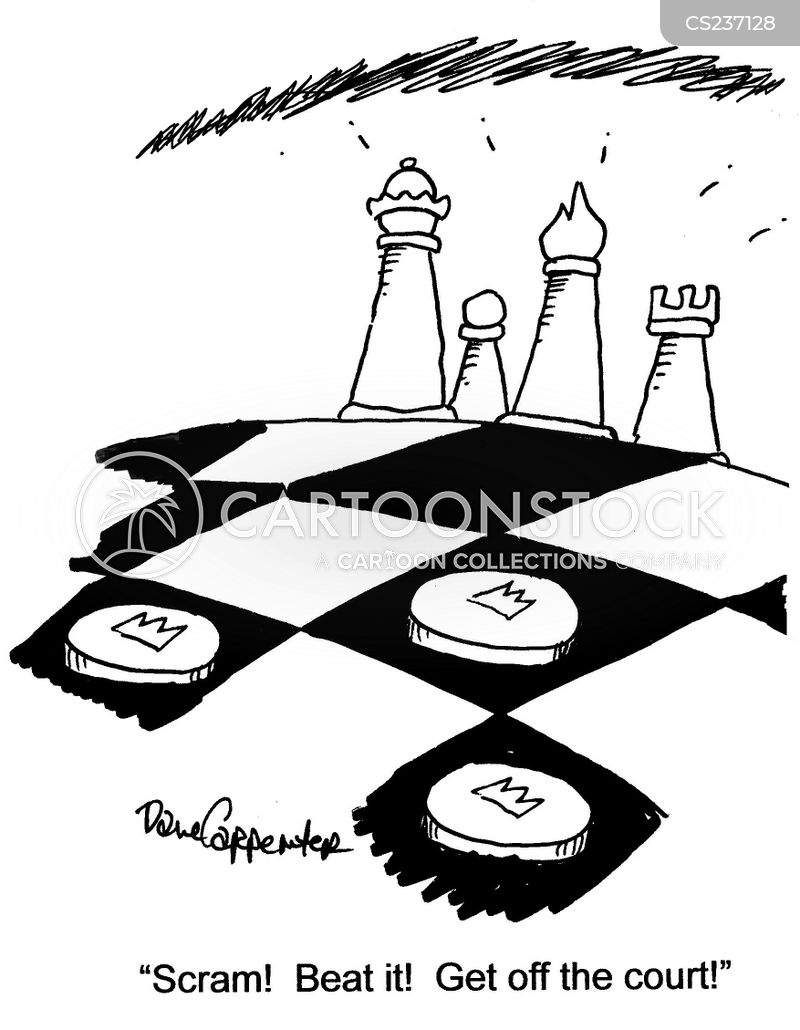 draughts board cartoon