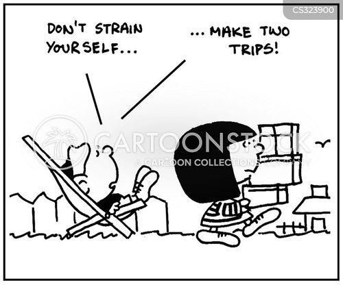 strains cartoon