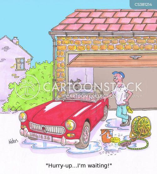 car cleaning cartoon